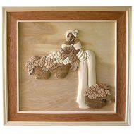 Black Lady 3D Handcarved Wooden Picture