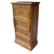 Handcarved 3 Drawer Chest Bureau