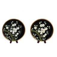 Set Of 2 Blossom Plates With Stand