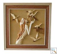 Angel 3D Handcarved Wooden Picture