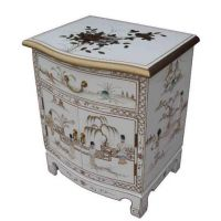 Handmade White Lacquer with Mother of Pearl Furniture