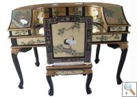 Gold Leaf Desk With Chair