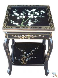 Hand Painted Blossom End Table