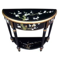 Handmade Black Lacquer Blossom Furniture