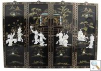 MOP 4 Panel Wall Hangings with 8 Beauties