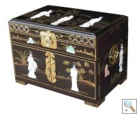 MOP Black Lacquer Jewellery Box, Ladies