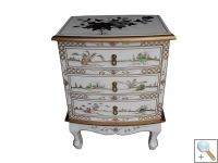 Mother of Pearl White 3 Drawer Chest