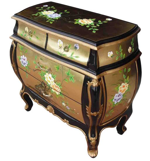 Gold leaf chest of drawers welcome to grand international for Grand international decor