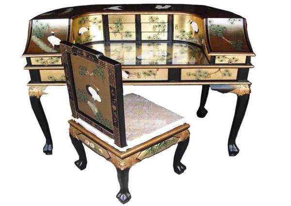 Gold Leaf Desk With Chair Wel e to Grand International